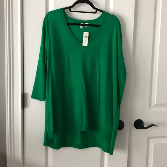 b36b950d892 Anthropologie Tops | Kelly Green Tunic Sweater | Poshmark